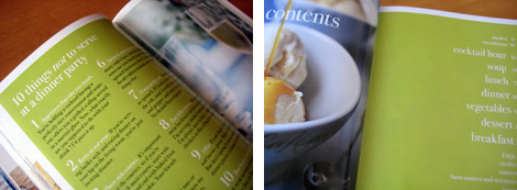 Image 1: Photo of 10 Things Not to Serve at a Dinner Party pages in Barefoot Contessa cookbook; Image 2: Photo of Barefoot Contessa Back to Basics cookbook table of contents
