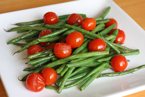 French Green Beans and Cherry Tomatoes :FlavorDiva.com
